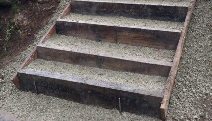 Escalier en traverses paysagères